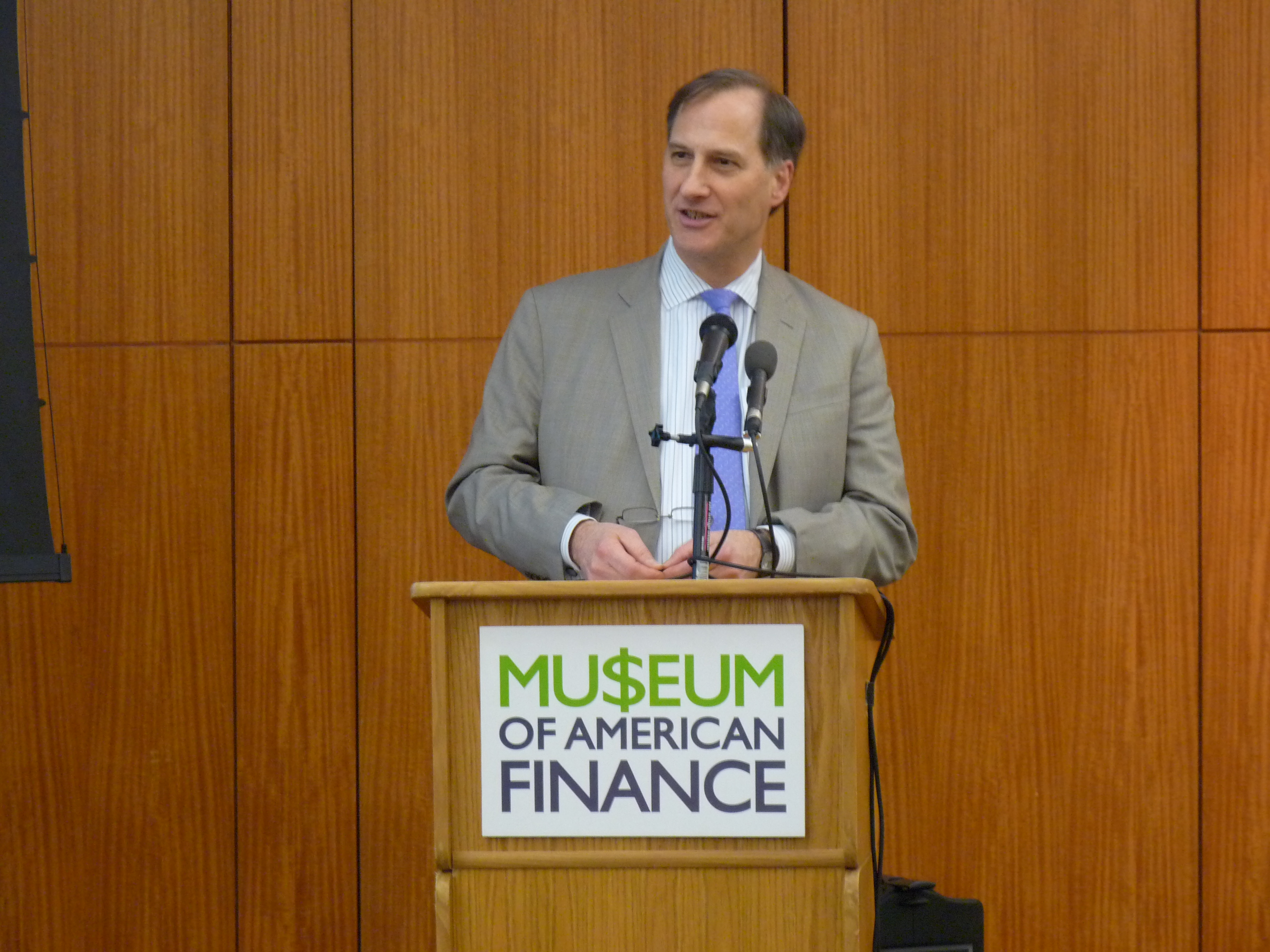 Book event at the Museum of American Finance